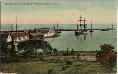 , Harbour and Breakwater, Souris, P.E.I. (2522), PEI Postcards