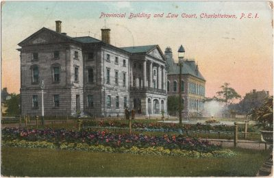 , Provincial Building and Law Court, Charlottetown, P.E.I. (2521), PEI Postcards