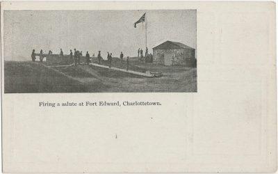 , Firing a salute at Fort Edward, Charlottetown. (2552), PEI Postcards