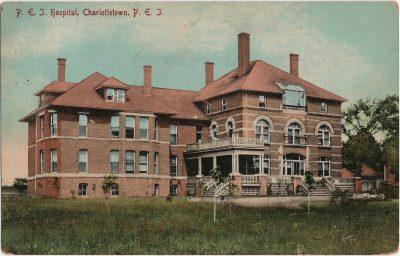 , P.E.I. Hospital, Charlottetown, P.E.I. (2514), PEI Postcards