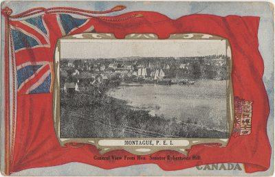 , Montague, P.E.I. General View from Hon. Senator Robertsons Hill. (2512), PEI Postcards