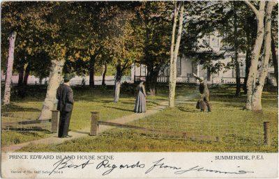 , Prince Edward Island House Scene Summerside, P.E.I. (2586), PEI Postcards