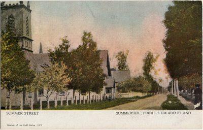 , Summer Street Summerside, Prince Edward Island (2585), PEI Postcards