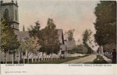 , Summer Street Summerside, Prince Edward Island (2587), PEI Postcards