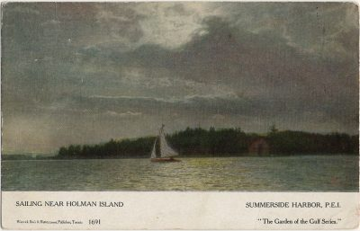 , Sailing Near Holman Island Summerside Harbor, P.E.I. (2583), PEI Postcards