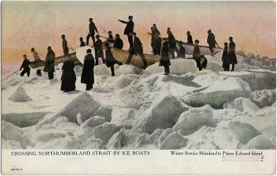 , Crossing Northumberland Strait by Ice Boats Winter Service Mainland to Prince Edward Island (2582), PEI Postcards