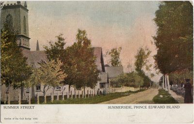 , Summer Street Summerside, Prince Edward Island (2584), PEI Postcards