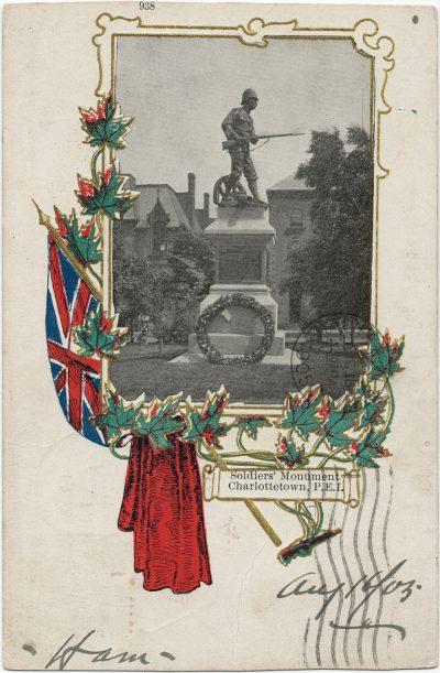 , Soldiers' Monument Charlottetown, P.E.I. (2580), PEI Postcards