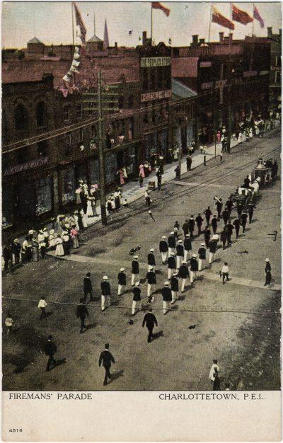 , Firemans' Parade Charlottetown, P.E.I. (2579), PEI Postcards