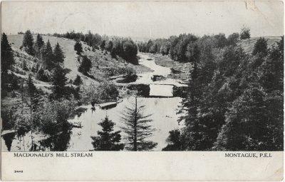 , MacDonald's Mill Stream Montague, P.E.I. (2575), PEI Postcards