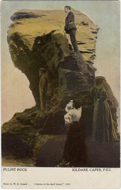 , Pulpit Rock Kildare Capes, P.E.I. (2574), PEI Postcards