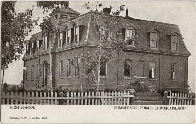 , High School Summerside, Prince Edward Island (2571), PEI Postcards