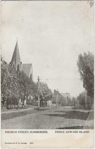 , Church Street, Summerside Prince Edward Island (2566), PEI Postcards