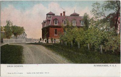 , High School Summerside, P.E.I. (2559), PEI Postcards