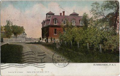 , High School Summerside, P.E.I. (2558), PEI Postcards