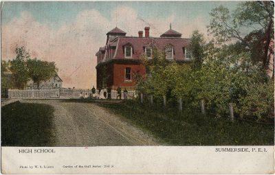 , High School Summerside, P.E.I. (1372), PEI Postcards