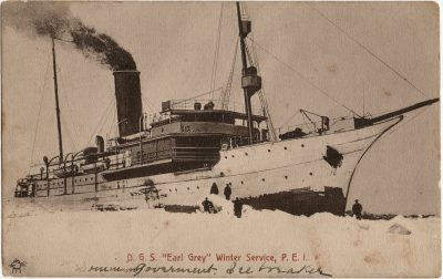 ", D.G.S. ""Earl Grey"" Winter Service, P.E.I. (2649), PEI Postcards"