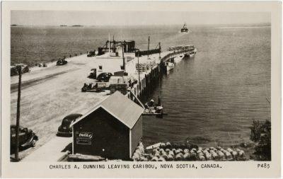 , Charles A. Dunning Leaving Caribou, Nova Scotia, Canada. (2603), PEI Postcards