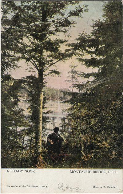 , A Shady Nook Montague Bridge, P.E.I. (2597), PEI Postcards