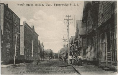 , Water Street, looking West, Summerside, P.E.I. (2648), PEI Postcards