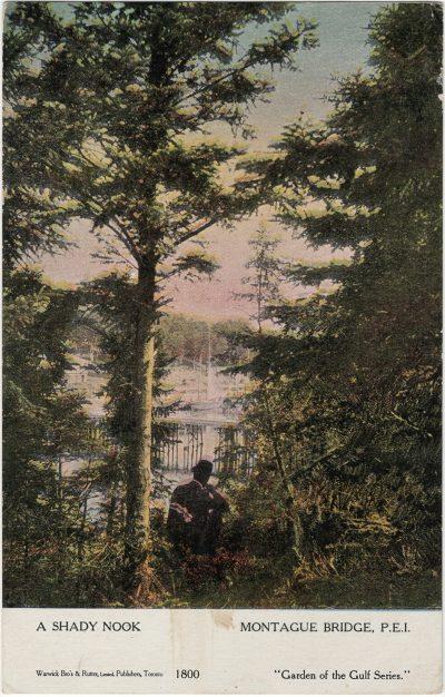 , A Shady Nook Montague Bridge, P.E.I. (2596), PEI Postcards