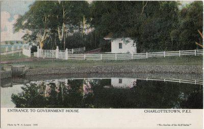 , Entrance to Government House Charlottetown, P.E.I. (2594), PEI Postcards