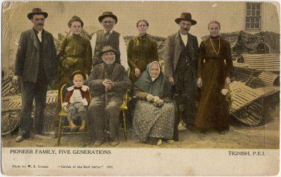 , Pioneer Family, Five Generations Tignish, P.E.I. (2593), PEI Postcards
