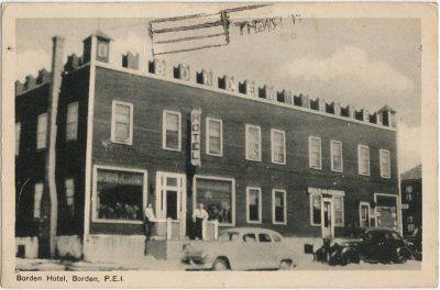 , Borden Hotel, Borden, P.E.I. (2591), PEI Postcards