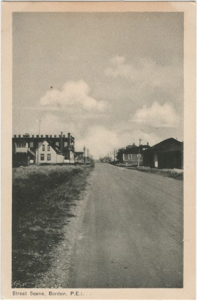 , Street Scene, Borden, P.E.I. (2590), PEI Postcards