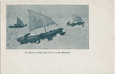 , Ice Boats crossing from P.E.I. to the Mainland (2644), PEI Postcards