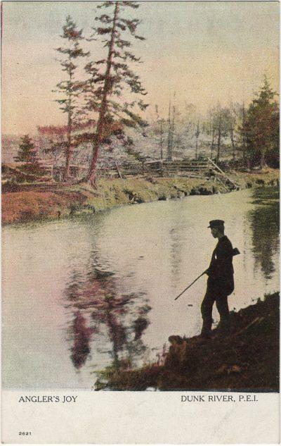 , Angler's Joy Dunk River, P.E.I. (2637), PEI Postcards