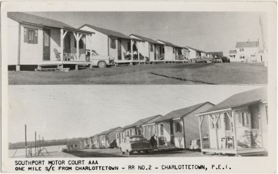 , Southport Motor Court AAA One Mile S/E from Charlottetown – RR No. 2 – Charlottetown, P.E.I. (2629), PEI Postcards