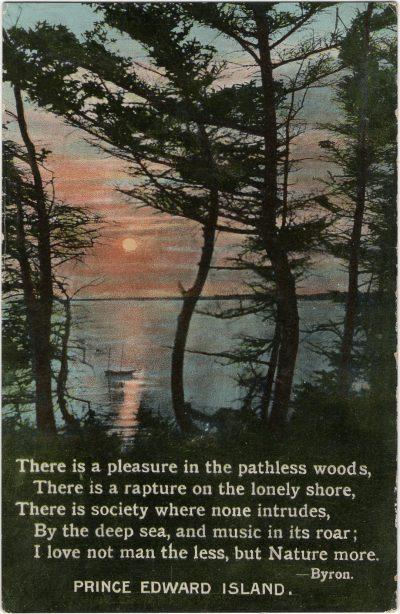 , {Poem by Byron} (2621), PEI Postcards