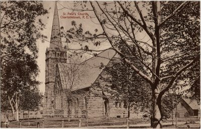 , St. Paul's Church, Charlottetown, P.E.I. (2611), PEI Postcards