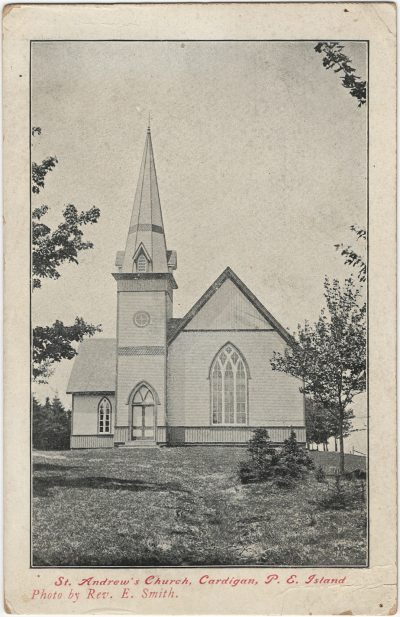 , St. Andrew's Church, Cardigan, P.E. Island. Photo by Rev. E. Smith. (2606), PEI Postcards