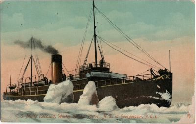 , C.G.S. Minto Icebound, Winter Service, Pictou, N.S. to Georgetown, P.E.I. (2604), PEI Postcards