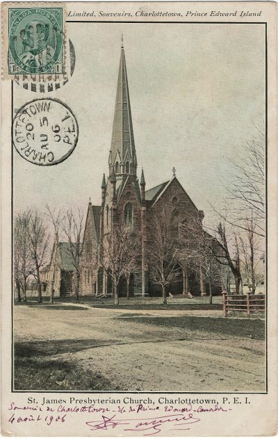 , St James Presbyterian Church, Charlottetown, P.E.I. (2704), PEI Postcards