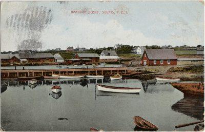 , Harbour Scene, Souris, P.E.I. (2658), PEI Postcards