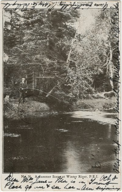 , A Summer Scene at Winter River, P.E.I. (2659), PEI Postcards