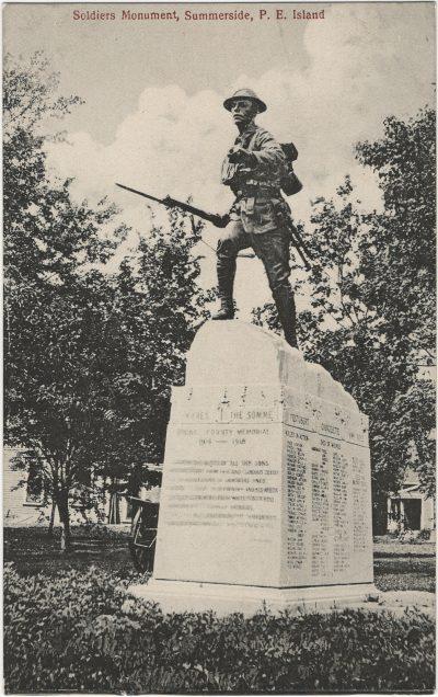 , Soldiers Monument, Summerside, P.E. Island (2656), PEI Postcards