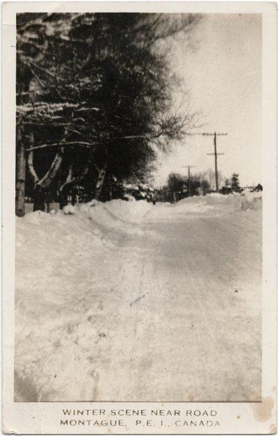 , Winter Scene near Road. Montague, P.E.I., Canada. (2689), PEI Postcards