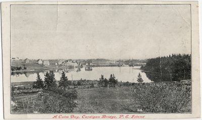 , A Calm Day, Cardigan Bridge, P.E. Island (2676), PEI Postcards