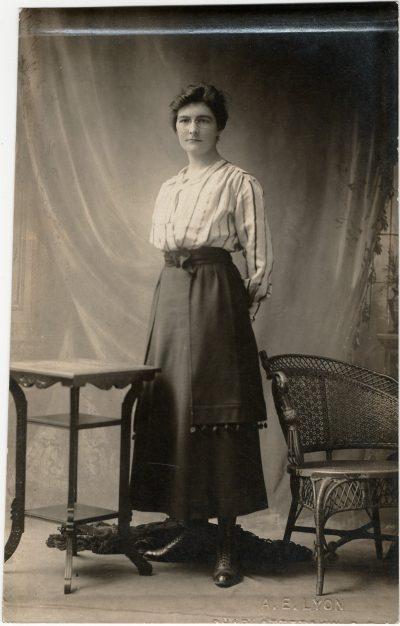 , {photograph of woman} A.E. Lyon, Charlottetown (2673), PEI Postcards