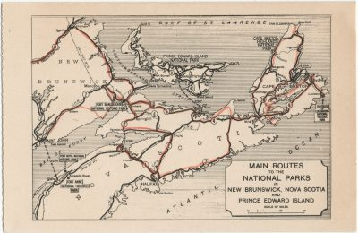 , Main Routes to the National Parks in New Brunswick, Nova Scotia and Prince Edward Island. (2669), PEI Postcards