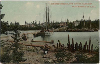 , Pinette Bridge, one of the Earliest Settlements on P.E.I. (2671), PEI Postcards