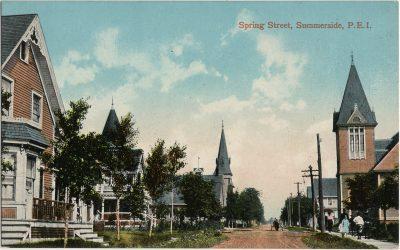 , Spring Street, Summerside, P.E.I. (2667), PEI Postcards
