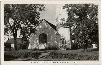 , St. Peter's Anglican Church, Alberton, P.E.I. (2660), PEI Postcards