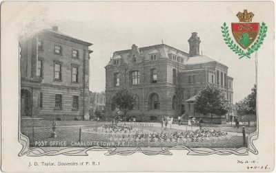 , Post Office Charlottetown, P.E.I. (2662), PEI Postcards