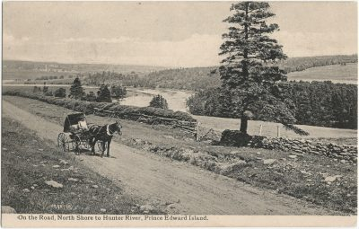 , On the Road, North Shore to Hunter River, Prince Edward Island. (2725), PEI Postcards