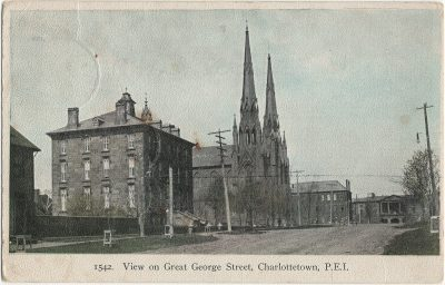 , View on Great George Street, Charlottetown, P.E.I. (2726), PEI Postcards
